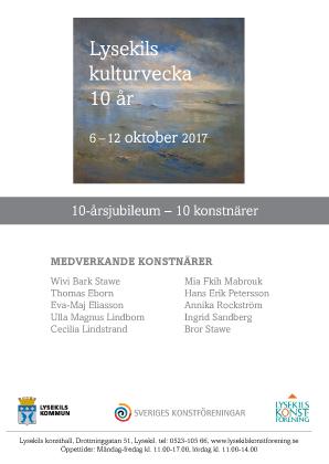 Vernissagekort Kulturvecka 2017 - baksida