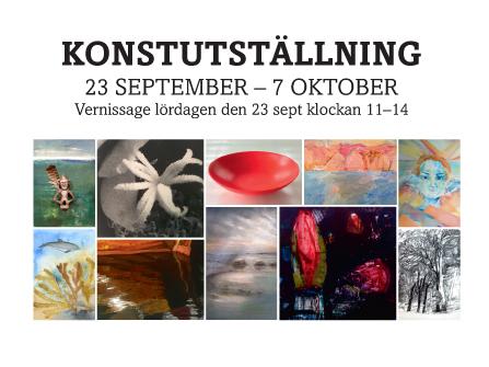 Vernissagekort Kulturvecka 2017 - framsida