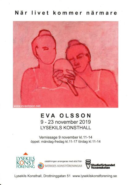 Eva Olsson vernissagekort